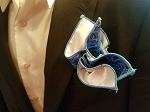 Double Sided Electric Blue Pocket Square
