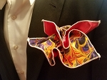 Double Sided Electric Yellow Pocket Square