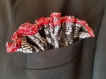 Black and White Pocket Round with Red trim
