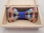 Atiase Pre-Tied Bow Tie with blue, gold, red and green