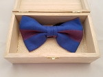 Atiase Pre-Tied Blue and Red Bow Tie