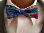 Explosion of Color Child's Bow Tie with Mini Matching Double Sided Pocket Round