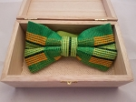 Atiase Pre-Tied Green Bow Tie with neon green, gold and black