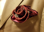 Double Sided Maroon and Tan Pocket Round