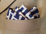 Limited Edition Silver and Navy Pocket Square