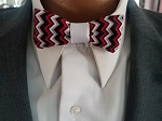 Red, Black and White Child's Bow Tie