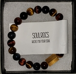 SoulRocs Bracelets- Red, Blue and Yellow Tiger Eyes