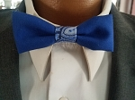 Silver and Blue Paisley Child's Bow Tie Option #2