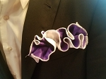 Double Sided Purple and White Pocket Round