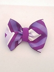 Hand Crafted Purple Bow Tie Lapel Button