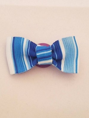 Hand Crafted Blue Bow Tie Lapel Button