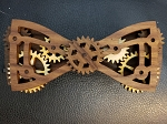 Wooden Bow Tie- Multi Color W.W. Maximus D. Phil Moving Wood Gear #2